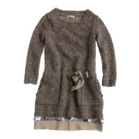 Girls' shimmer-trim sweater-dress