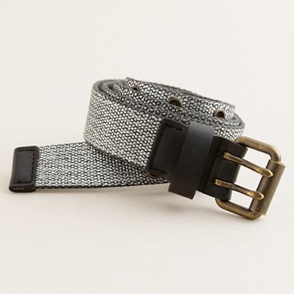 Metallic vintage military belt