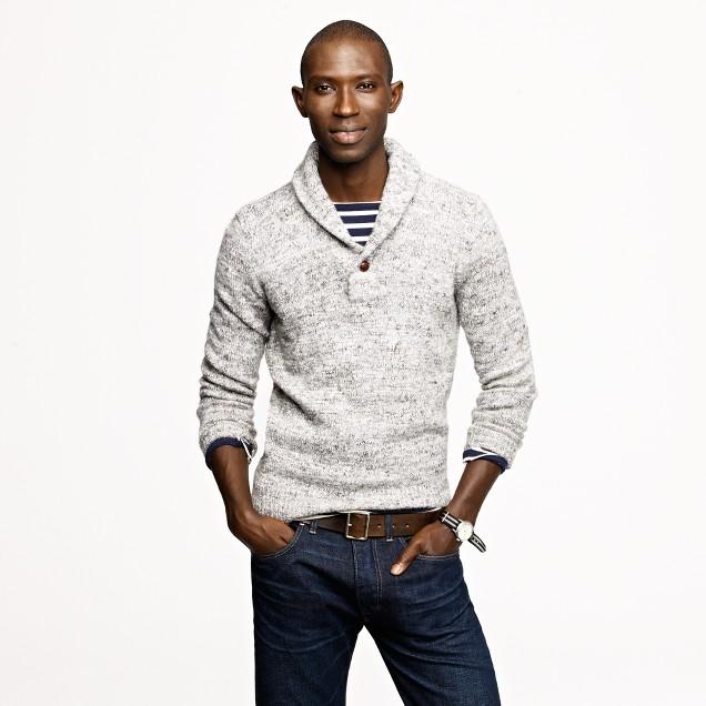 Alpaca shawl-collar sweater