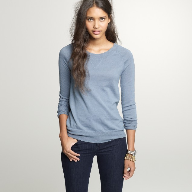 Merino beaded boyfriend sweatshirt