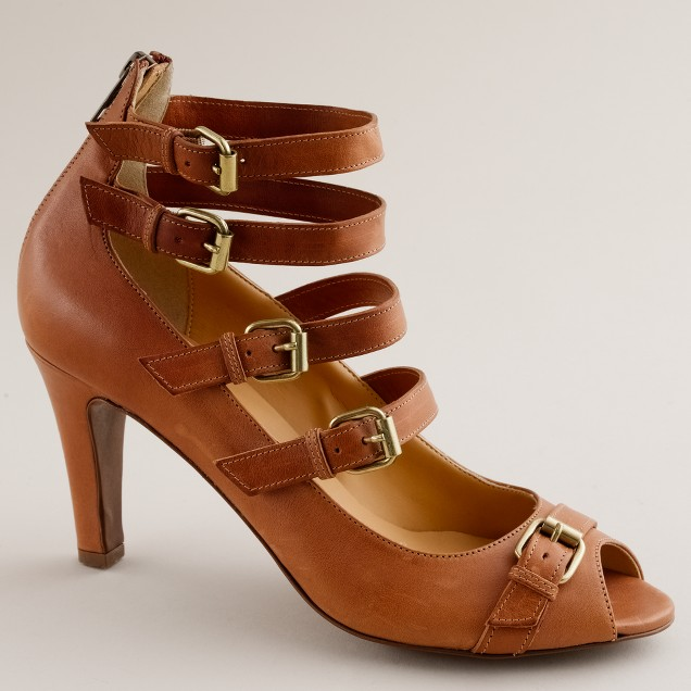 Loxley buckle peep toes
