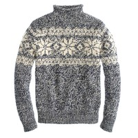 Alpaca Fair Isle rollneck™ sweater