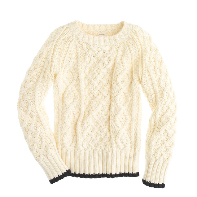 Boys' fishermen's cotton cable sweater