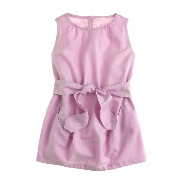 Girls' tissue oxford tie dress