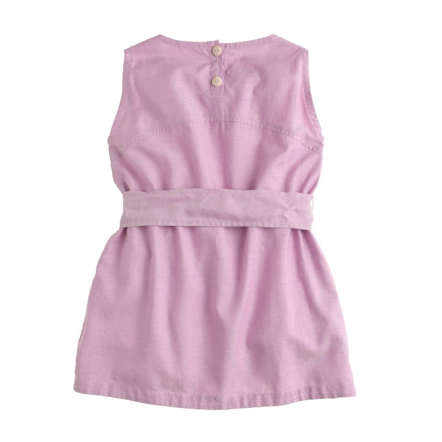 Girls' tissue oxford tie dress