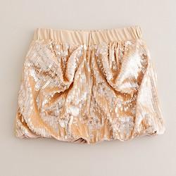 Girls' bubble sequin skirt