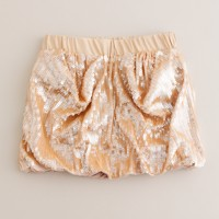 Girls' bubble sequin skirt