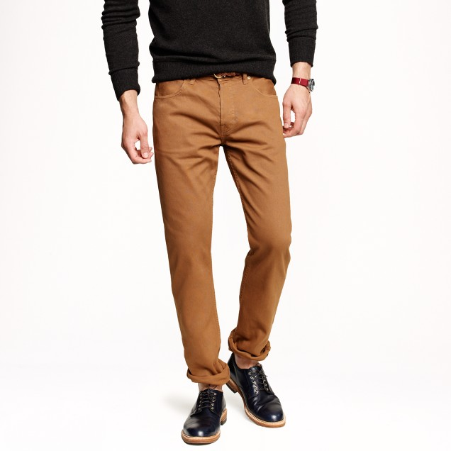 Wallace & Barnes garment-dyed pant in bedford cord