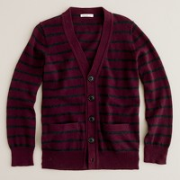 Boys' stripe cotton-cashmere cardigan