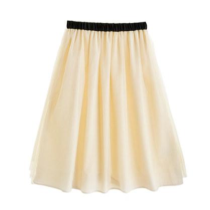 Girls' tippy-toe tulle long skirt