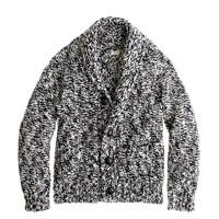 Boys' marled cotton shawl-collar cardigan