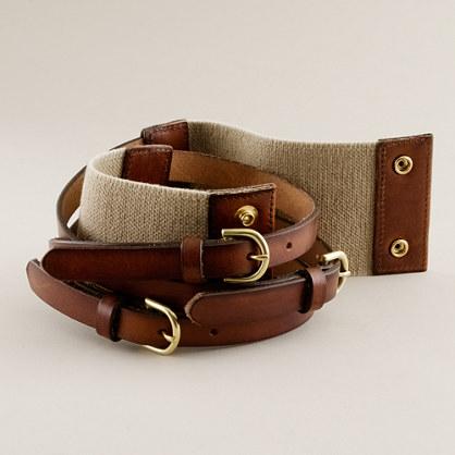 Tri-buckle waist belt