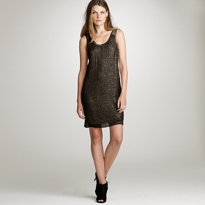 Dusted sequin shift dress