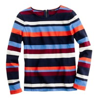 Colorblock top in stripe