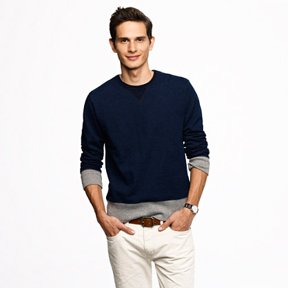 Wallace & Barnes indigo sweatshirt