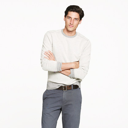Reverse waffle thermal sweatshirt