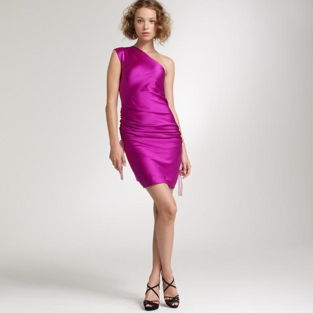Hammered silk flambé dress