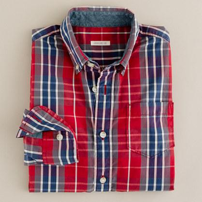 Boys' Chapman tartan shirt