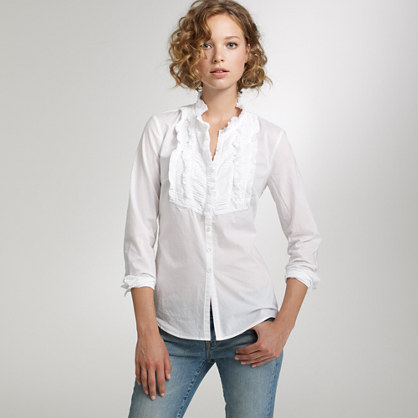 Chevron-pleat solid shirt