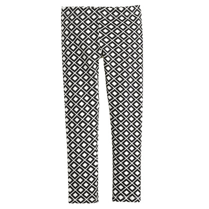Girls' everyday leggings in diamond print