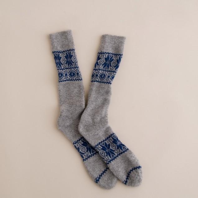 Cashmere Fair Isle socks