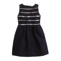 Girls' stripe sequin dress