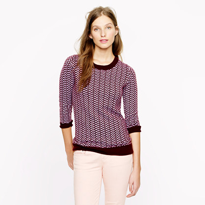 Collection cashmere herringbone sweater