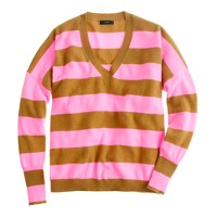 Collection cashmere boyfriend sweater in stripe