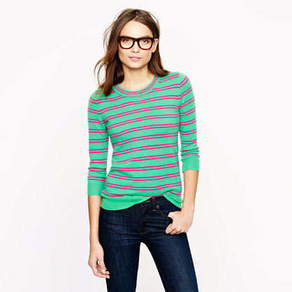 Collection cashmere Tippi sweater in stripe