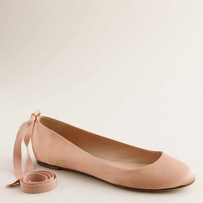 Paulina ankle-tie ballet flats