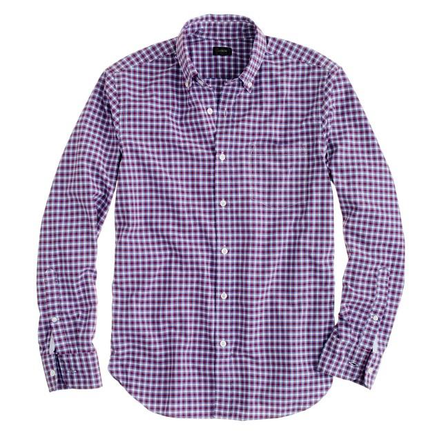 Slim Secret Wash shirt in vibrant check