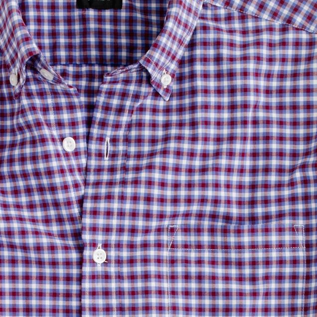 Secret Wash shirt in vibrant check