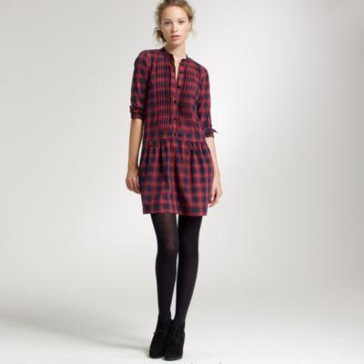 Plaid Sundrine flannel shirtdress :