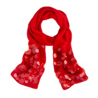 Girls' paillette scarf