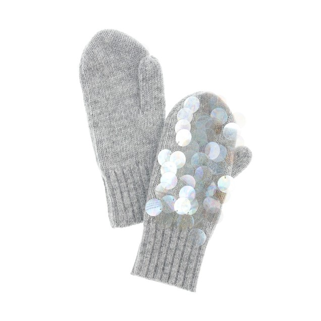 Girls' paillette mittens