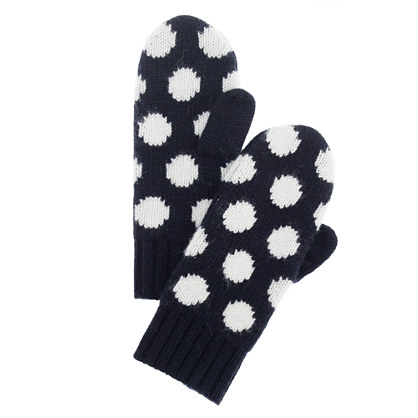 Girls' dot mittens