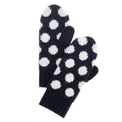 Girls' dot mittens