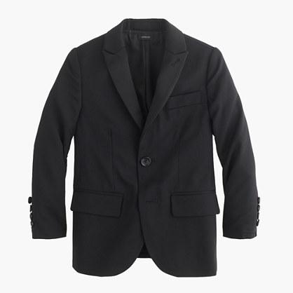 Boys' Ludlow peak-lapel tuxedo jacket in Italian wool