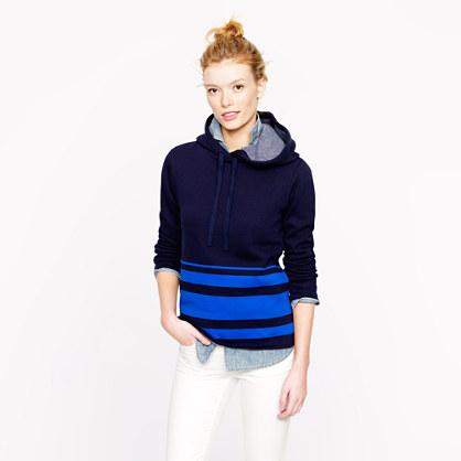 Engineered-stripe hoodie