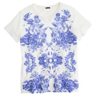 Mirrored floral tee