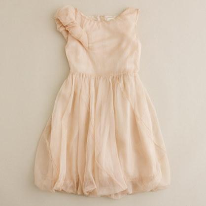 Girls' crisp organdy dress