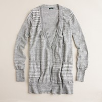 Space-dyed open cardigan