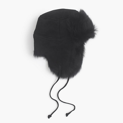 Toscana shearling trapper hat