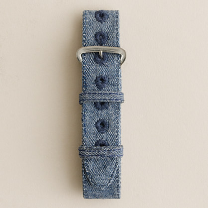 Cotton watch strap