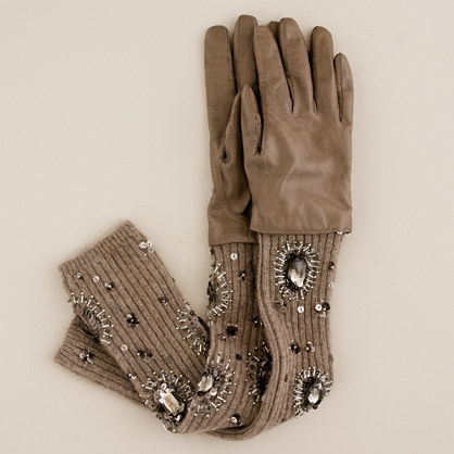 Convertible jeweled gloves