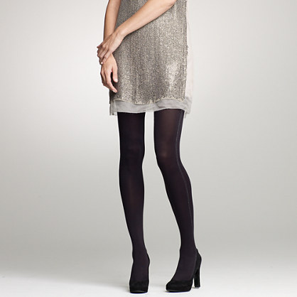Sparkle stripe-side tights