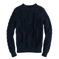 Cotton cable crewneck sweater