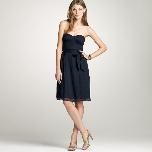 Petite Cyndee dress in silk chiffon