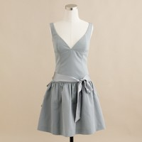 swan dress in cotton-silk faille