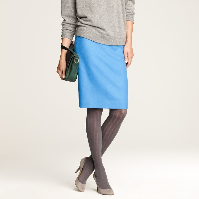 Wide-rib wool tights